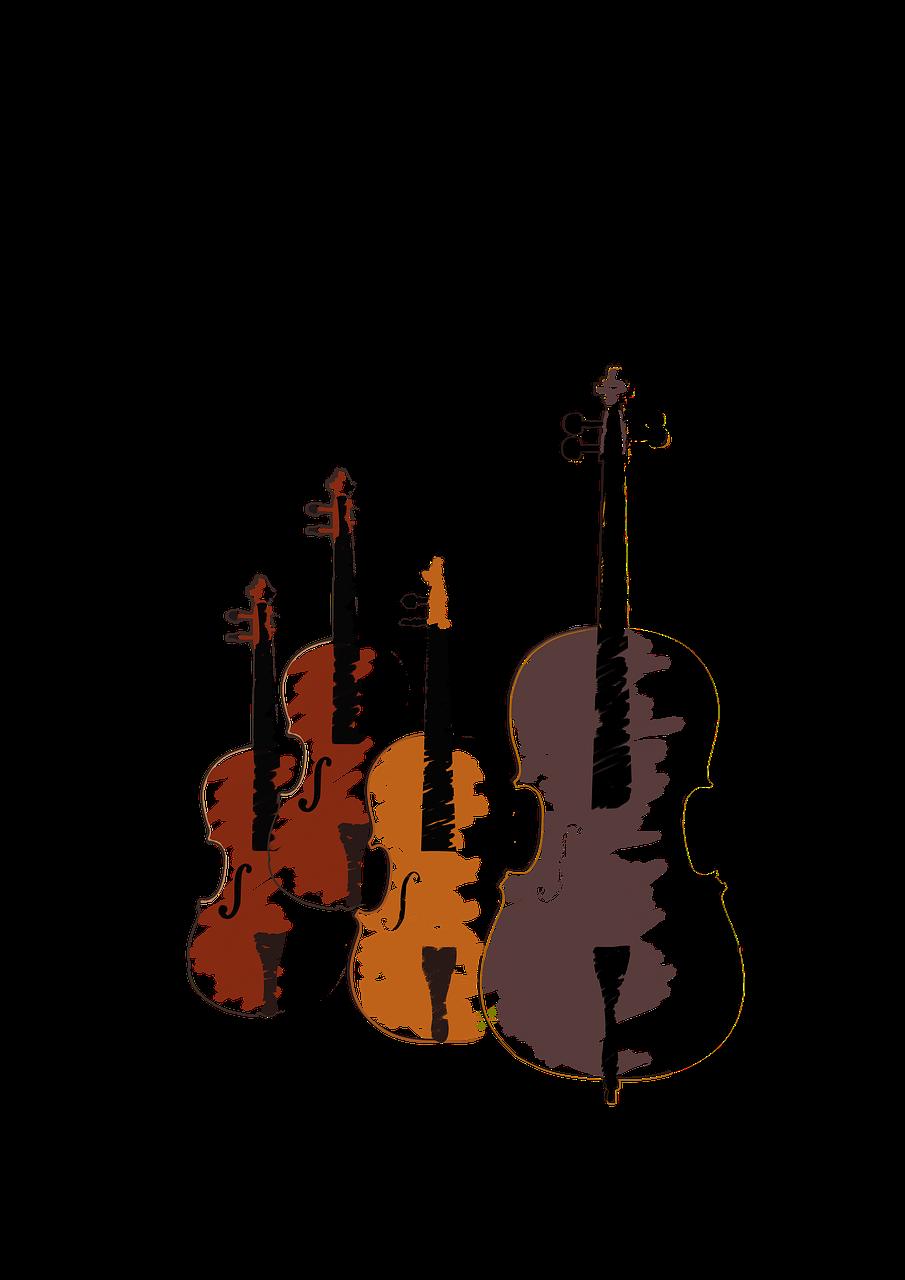 Streichinstrumente im Quartett
